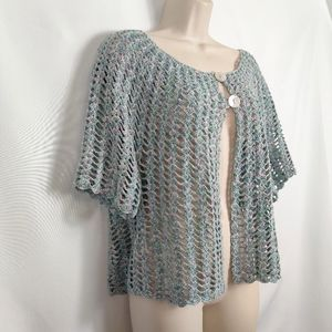 JH Collectible crochet top blues pinks